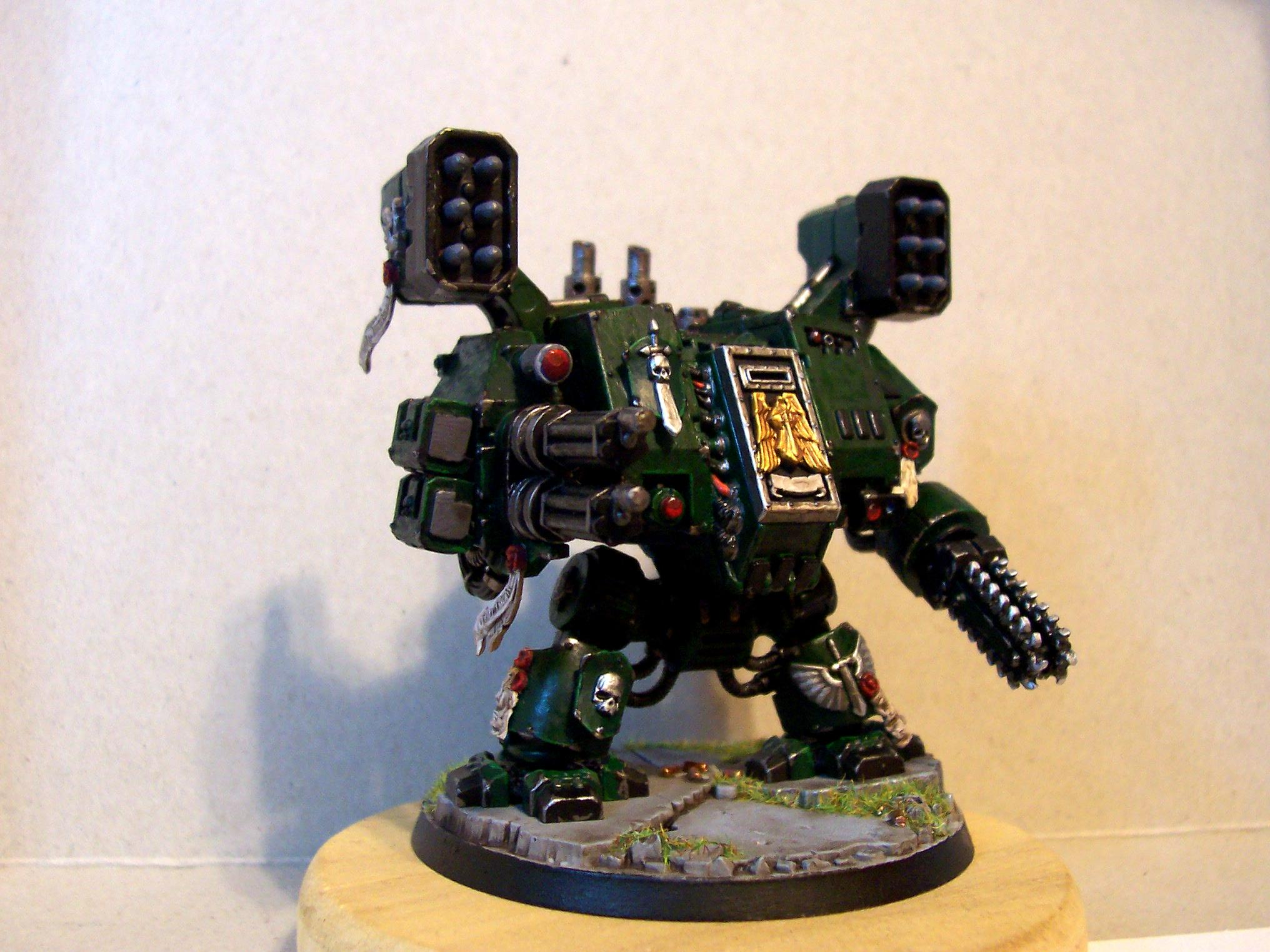 Assault Cannon, Chainfist, Conversion, Dark Angels, Dreadnought, Missile Launcher, Space Marines