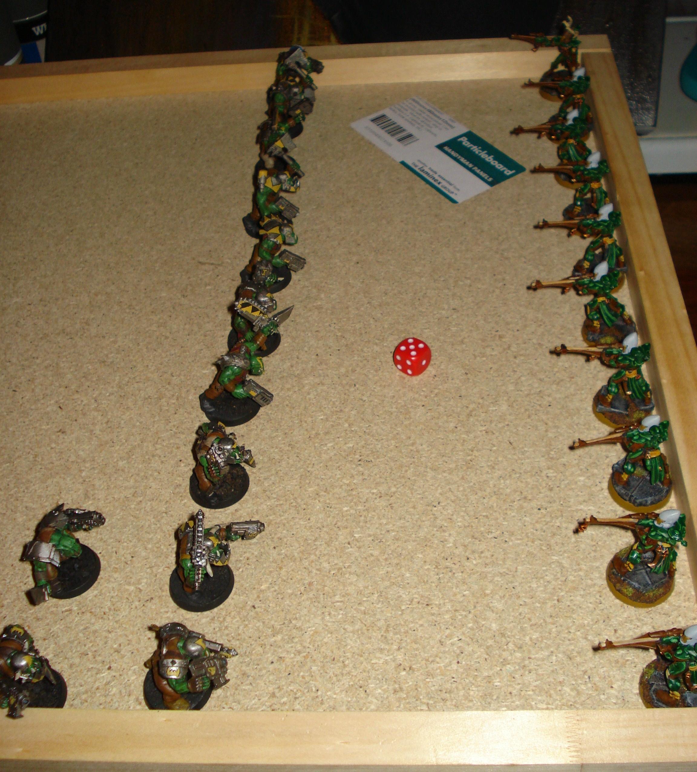 Battle Report, Eldar, Orks, Playtest, Warhammer 40,000