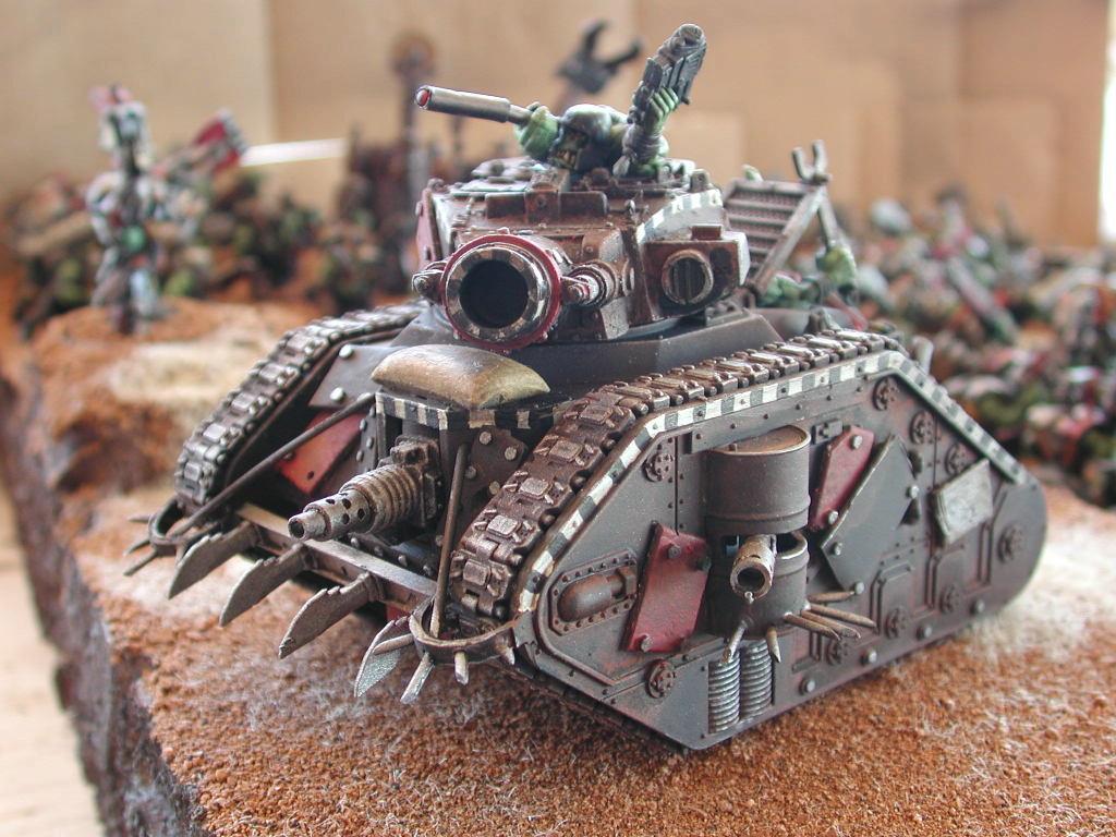 Looted Wagon, Ork Tank, Orks, Tank, Vehicle, Warhammer 40,000