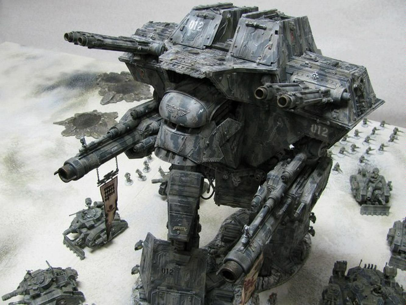 Apocalypse, Imperiel Guard, Titan, Warhammer 40,000, Warlord