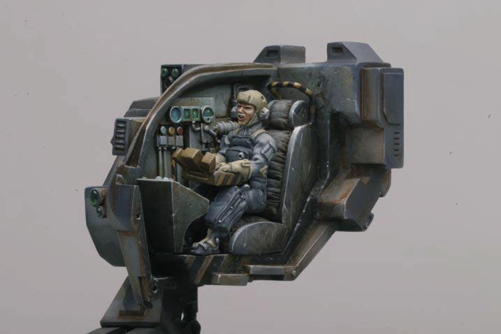 AT-43, Cross Section, Pilot, Vehicle Interior, Weathered