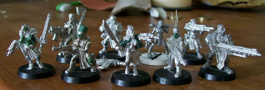 Cyberpunk, Greenstuff, Necromunda, Orlock, Sculpting
