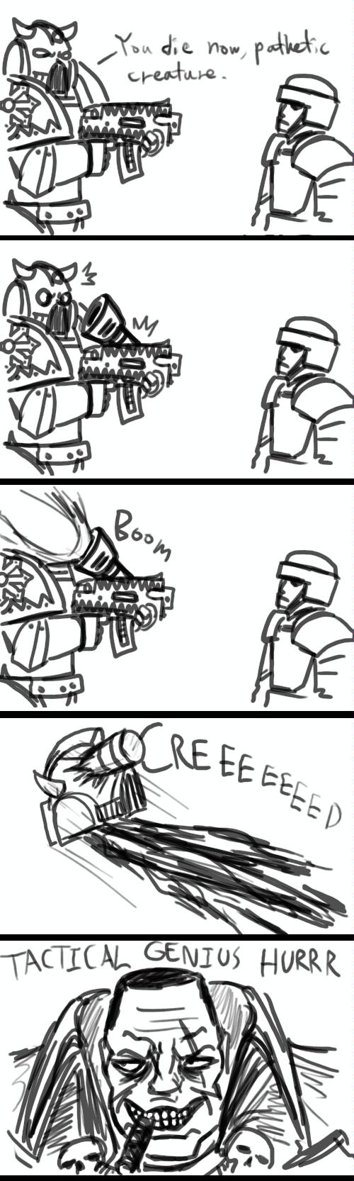 Creed, Humor, Imperial Guard, Tactical Genius