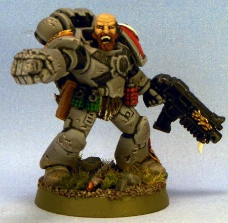 Grey Hunter, Power Fist, Space Marines, Space Wolves, Warhammer 40,000