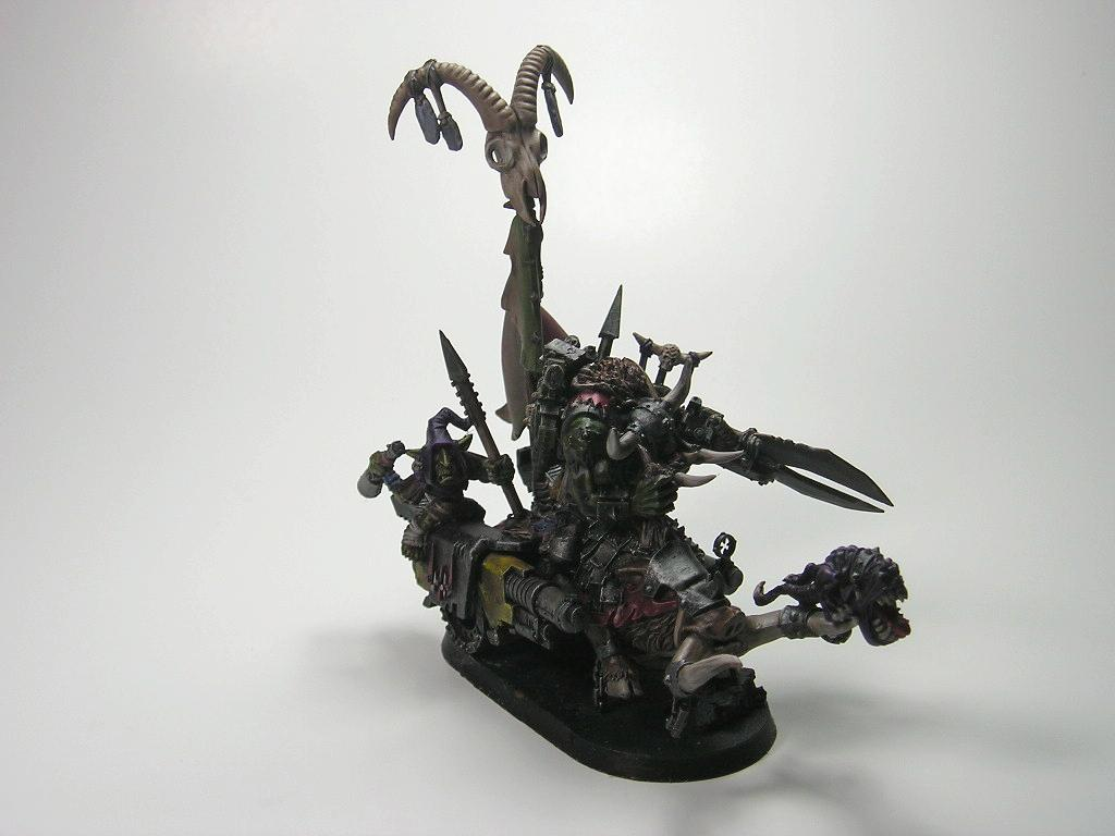 Boar, Conversion, Gretchin, Orcs And Goblins, Orks, Squigs, Warboss, Warhammer 40,000, Warhammer Fantasy