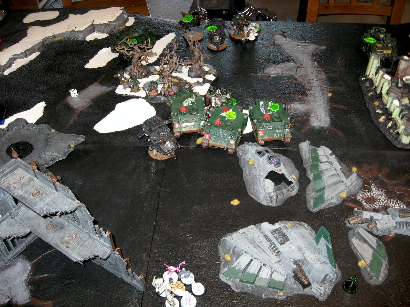 Battle Report, Daemons, Dark Angels, Tzeentch, Warhammer 40,000