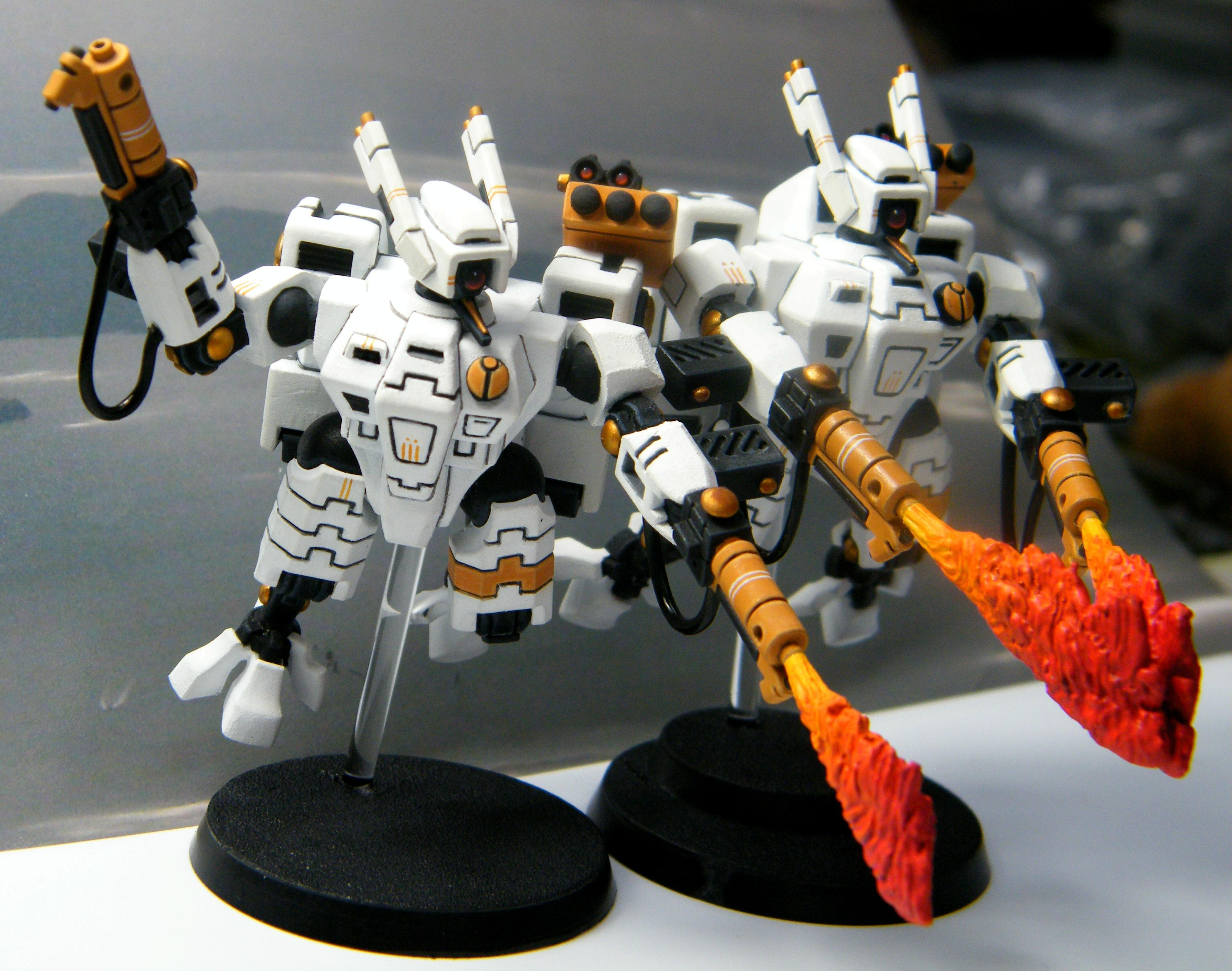 Armorcast, Crisis Battlesuit, Fire, Tau