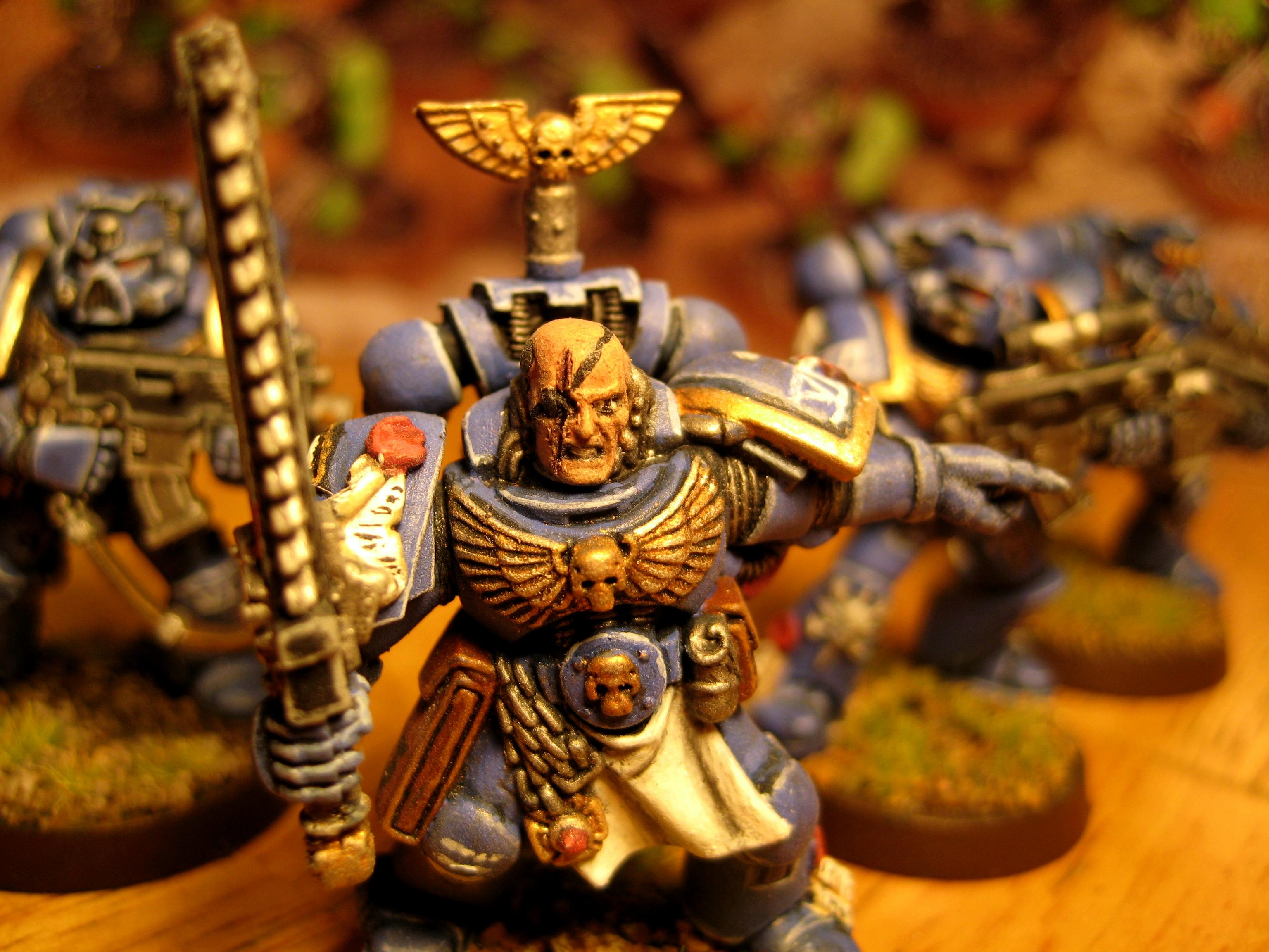 Sergeant, Space Marines, Ultramarines, Warhammer 40,000