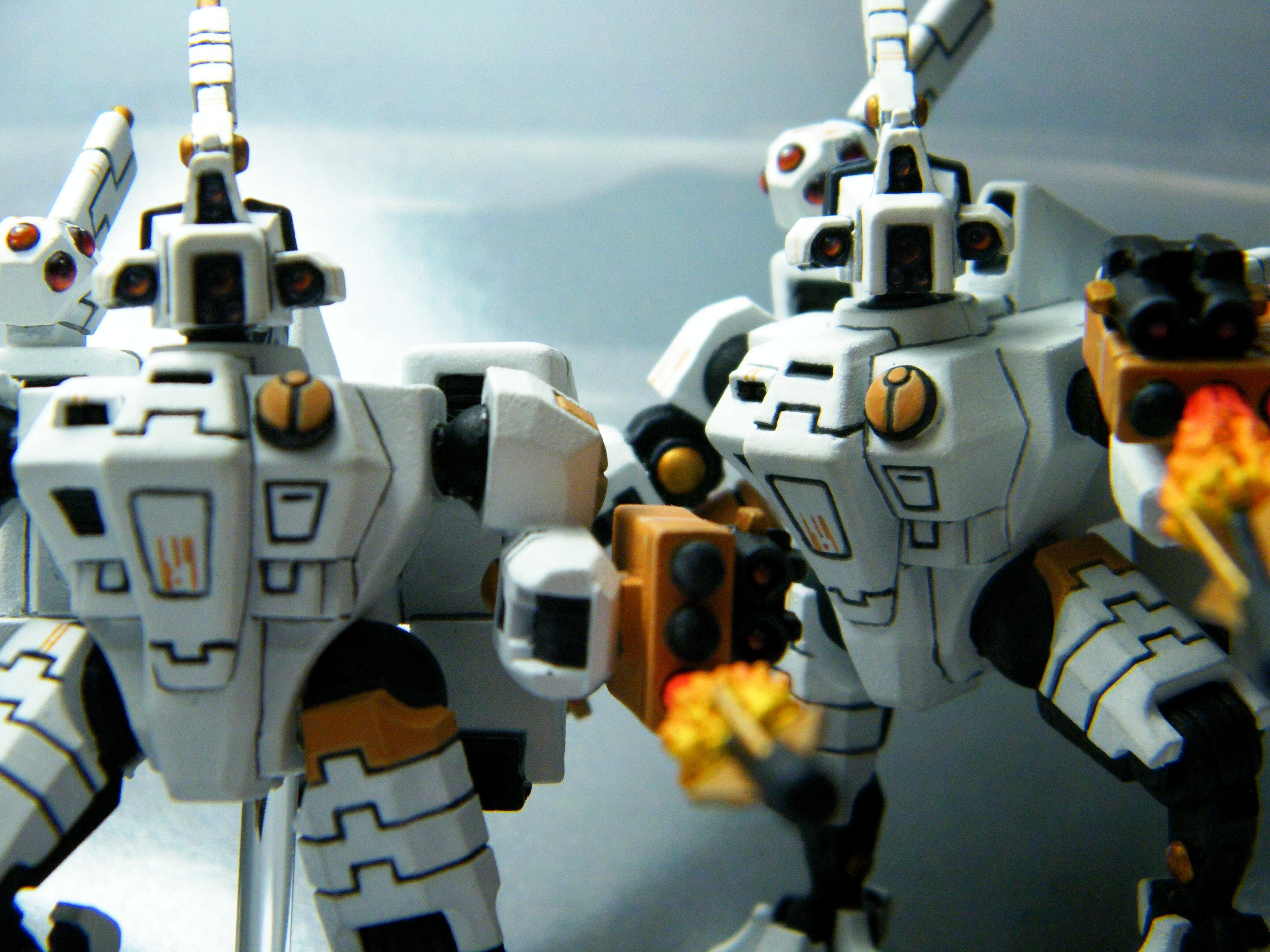 Clean White, Tau, Tau Battlesuits, White