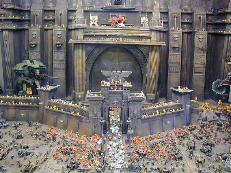 Diorama, Fortress, Games Workshop World, Space Marines