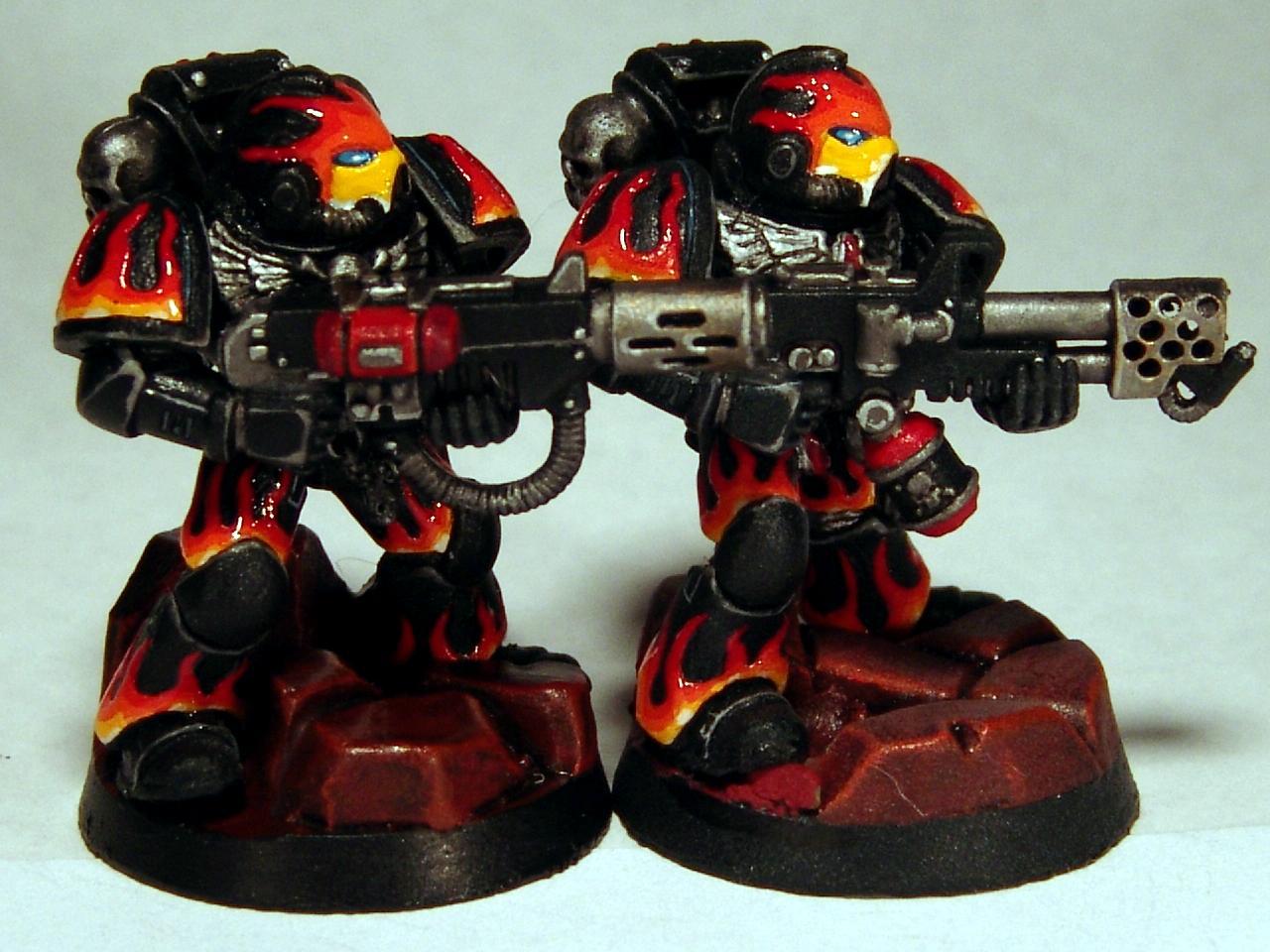 Custom, Flamer, Flames, Infernus, Meltagun, Rocks, Space Marines, Warhammer 40,000