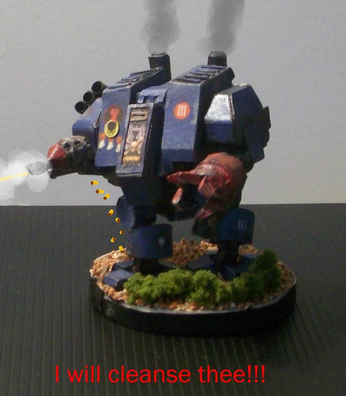 Paper, Space Marines, Warhammer Dreadnaught