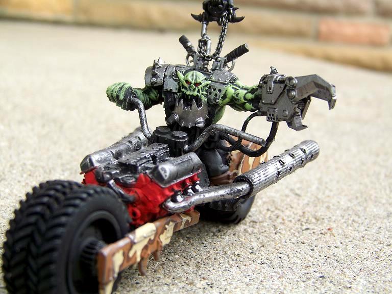 Nob, Orks, Warbike, bikerboss
