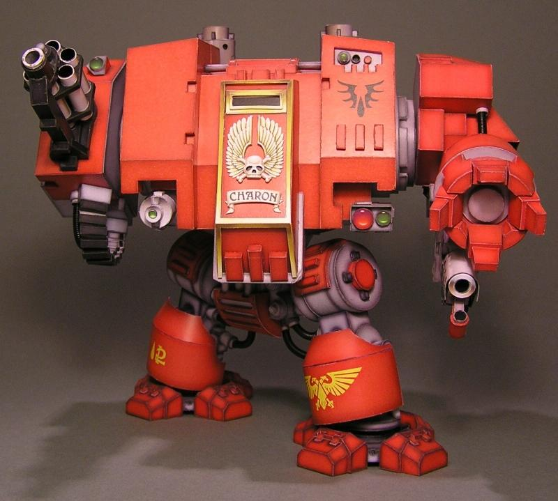 Blood Angels, Cardstock, Dreadnought, Space Marines, Warhammer Dreadnaught