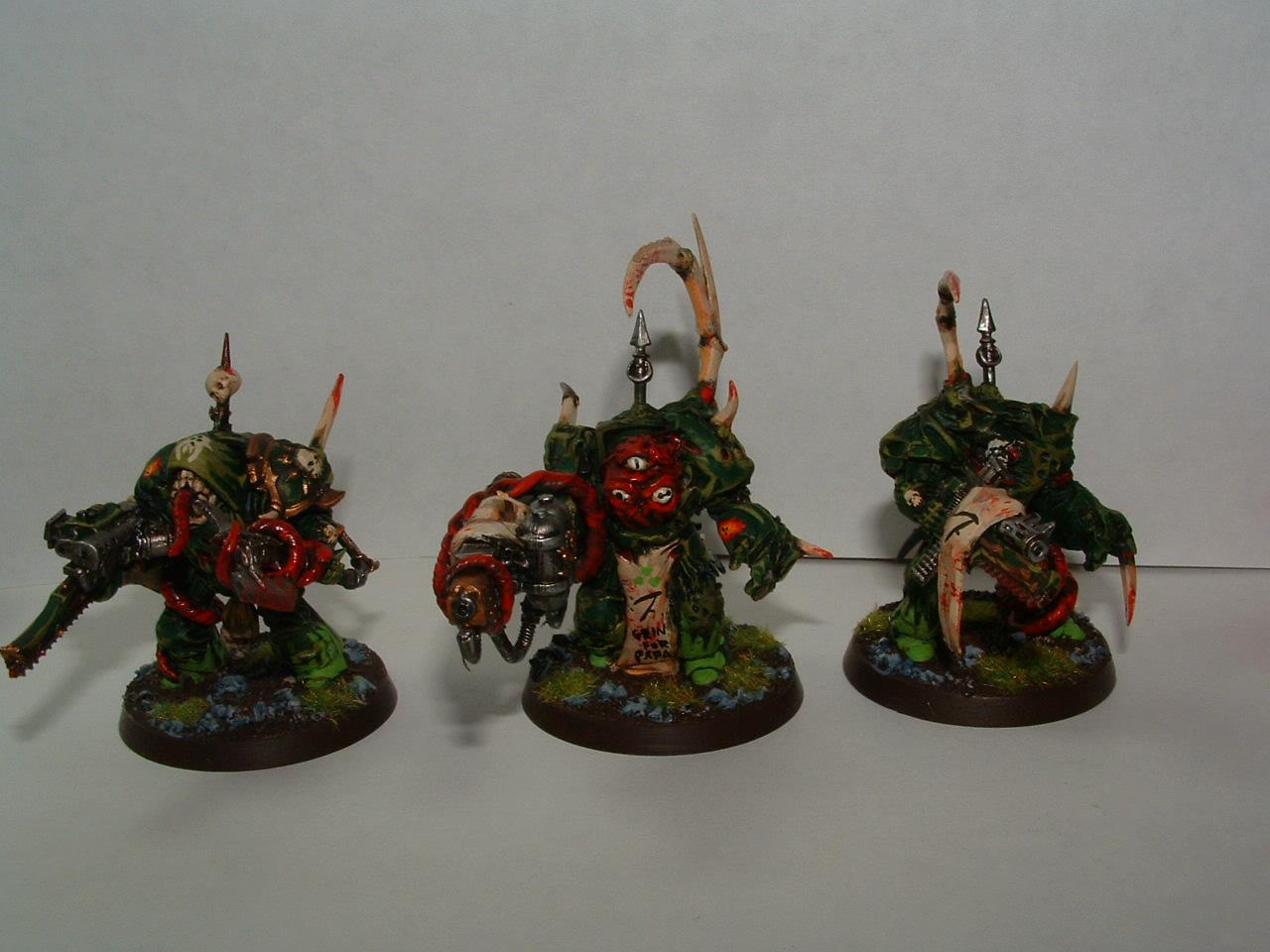 Chaos Space Marines, Nurgle, Terminator Armor, Warhammer 40,000