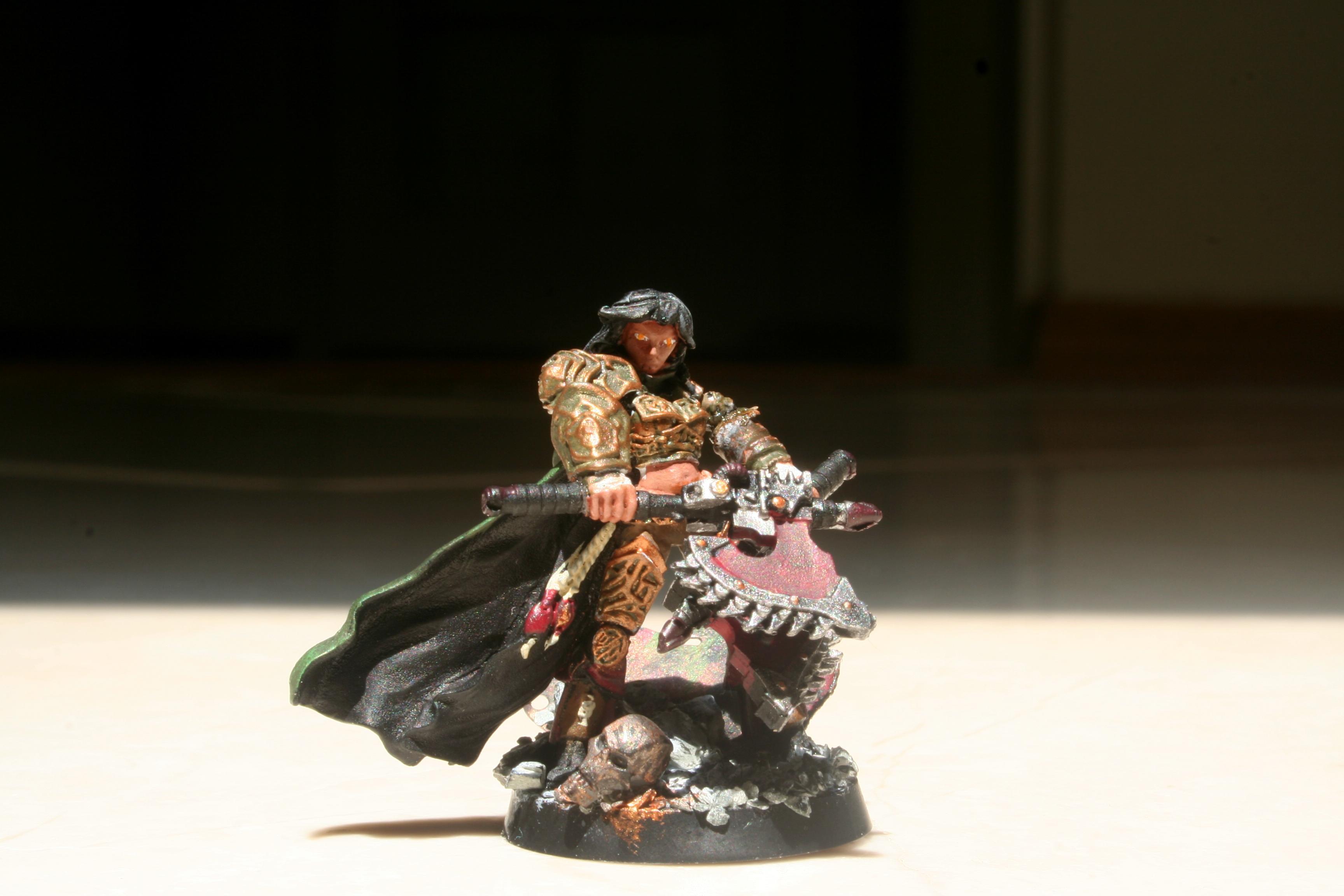 Base, Chain Axe, Dark Heresy, Dual Wield, Female, Girl, Guardsmen, Kaya, Kaya The Wildborne, Necron Skull, Rpg