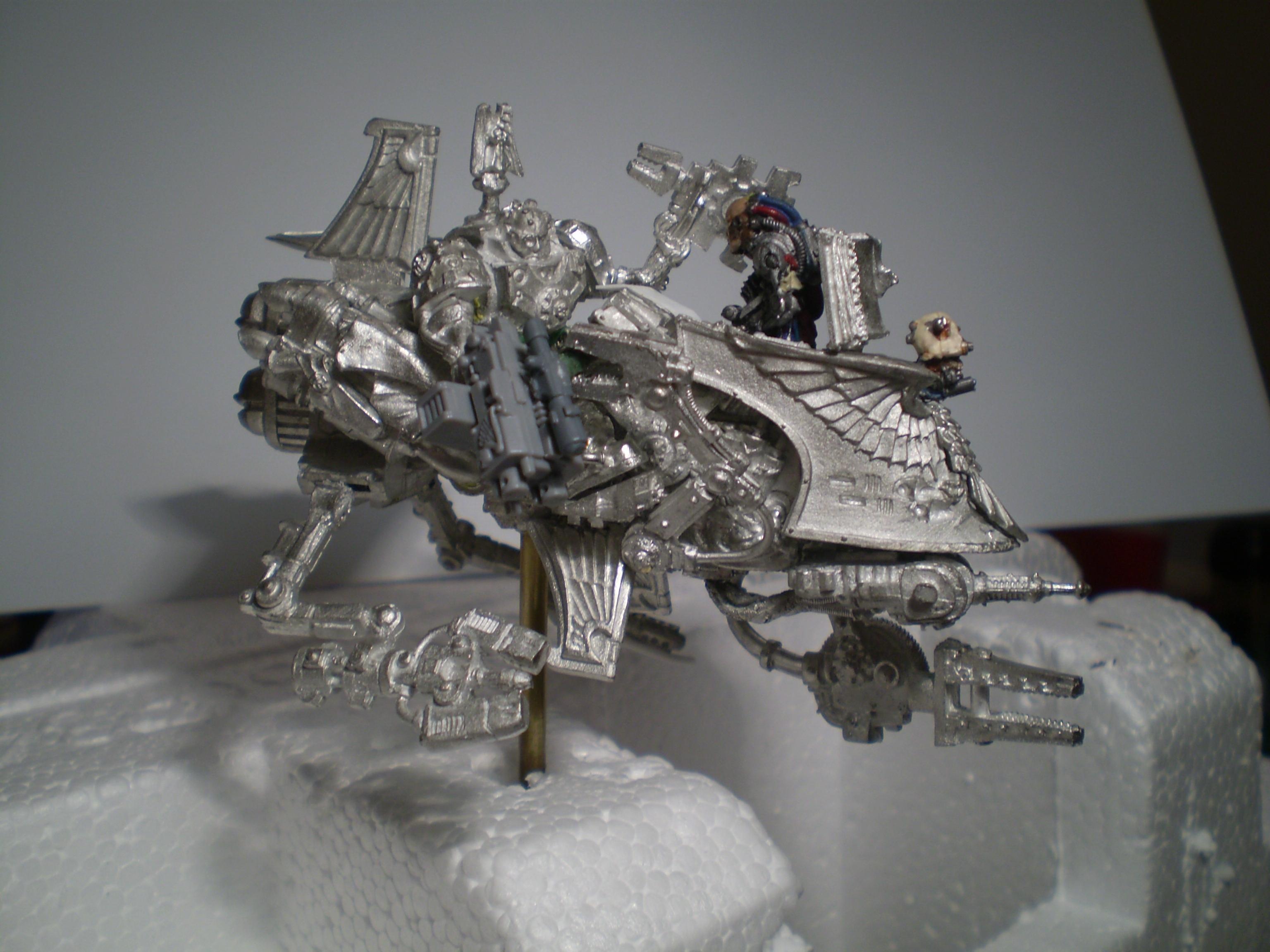 Bike, Dark Angels. Warhammer 40k, Headquarters, Master Of The Forge, Space Marines, Techmarine, Work In Progress