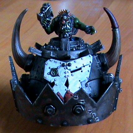 Orks, ork stompa head front view