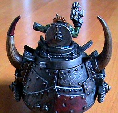 Orks, ork stompa head rear view