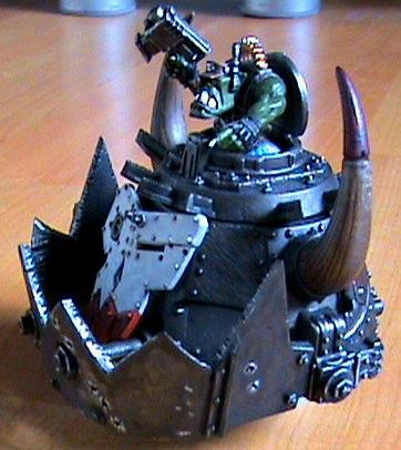 Orks, ork stompa head side view