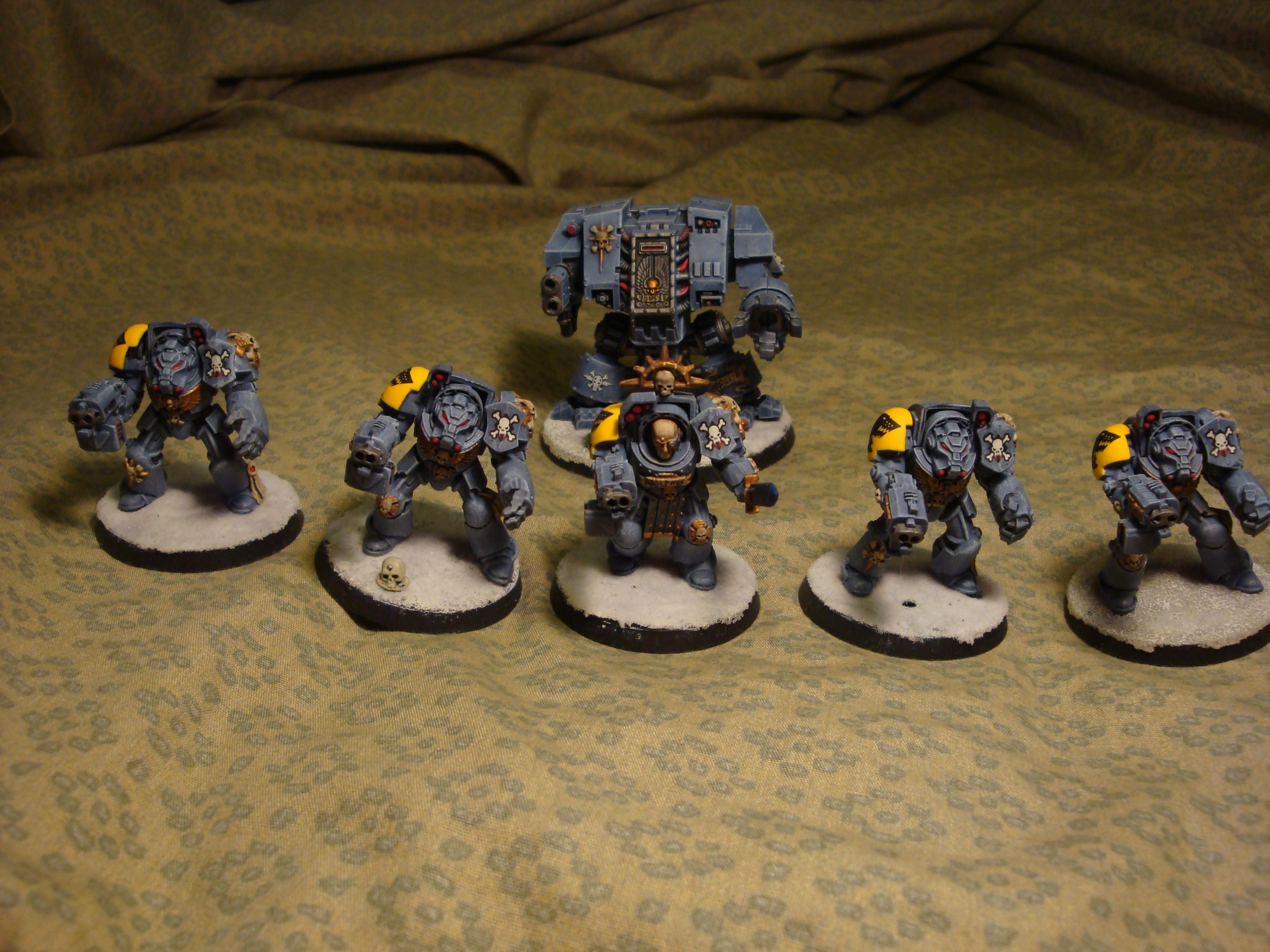 Dreadnought, Snow, Space Marines, Space Wolves, Terminator Armor