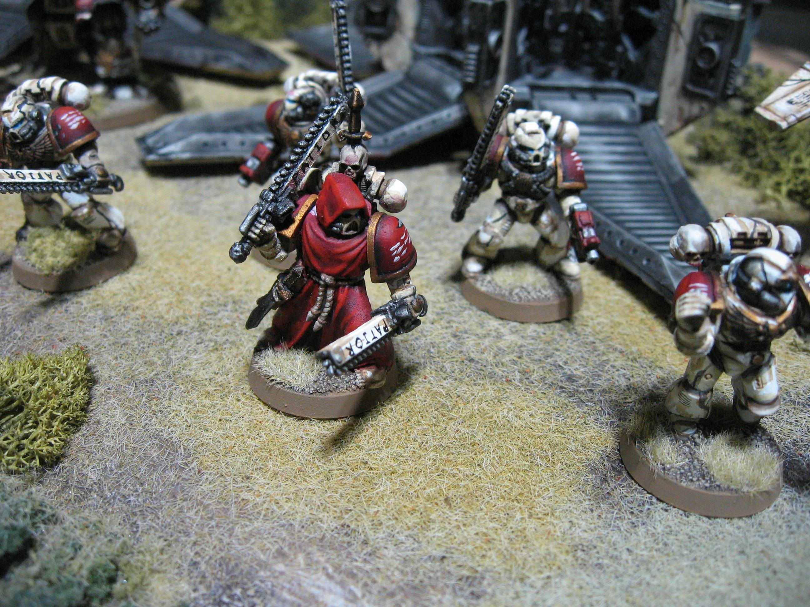 Action, Chain Sword, Dynamic, Red, Space Marines, Warhammer 40,000