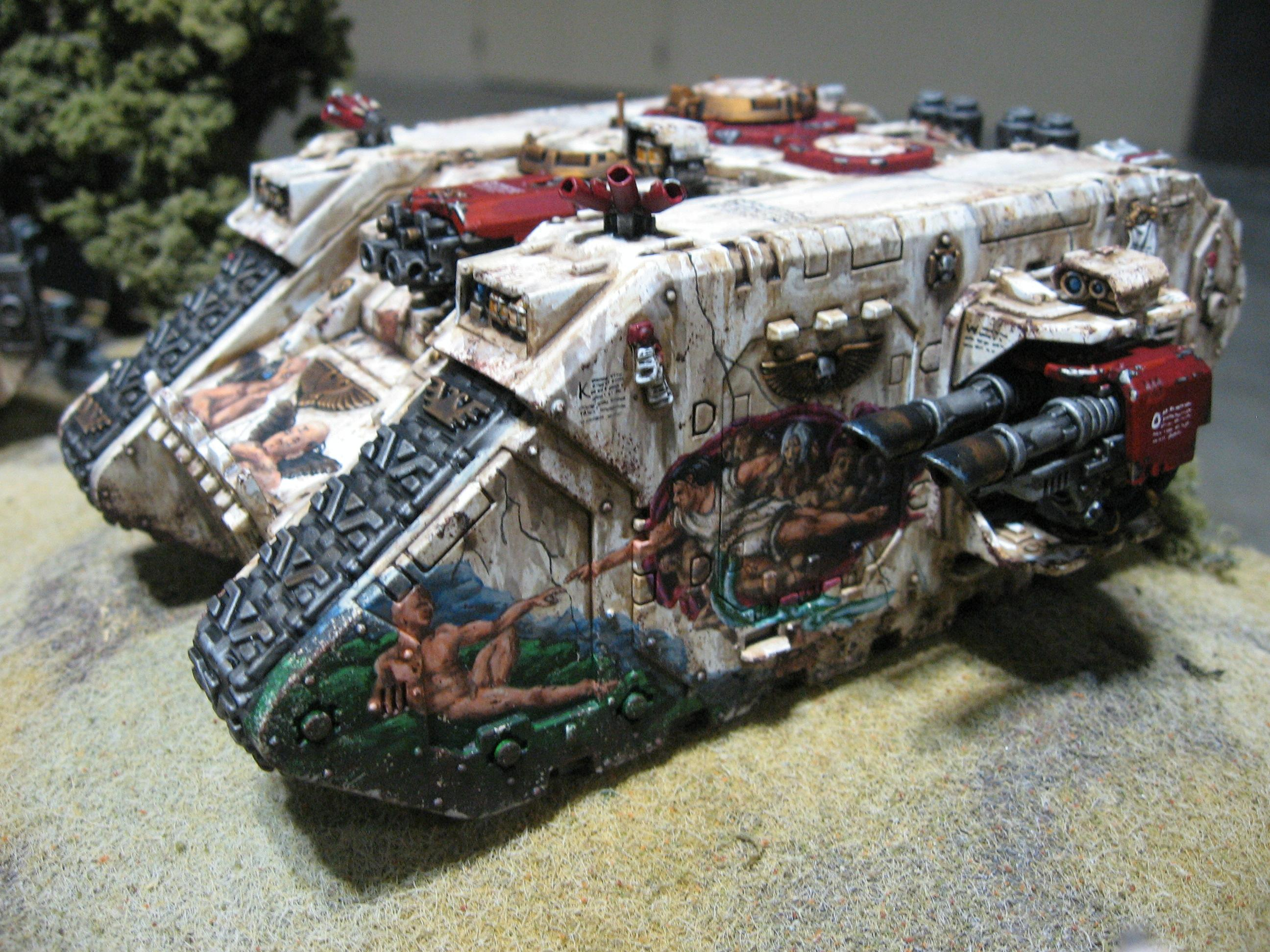 28mm, Armored Personnel Carrier, Armored Vehicle, Artwork, Freehand, Games Workshop, Heavy Support, Science-fiction, Space Marines, Tank, Warhammer 40,000