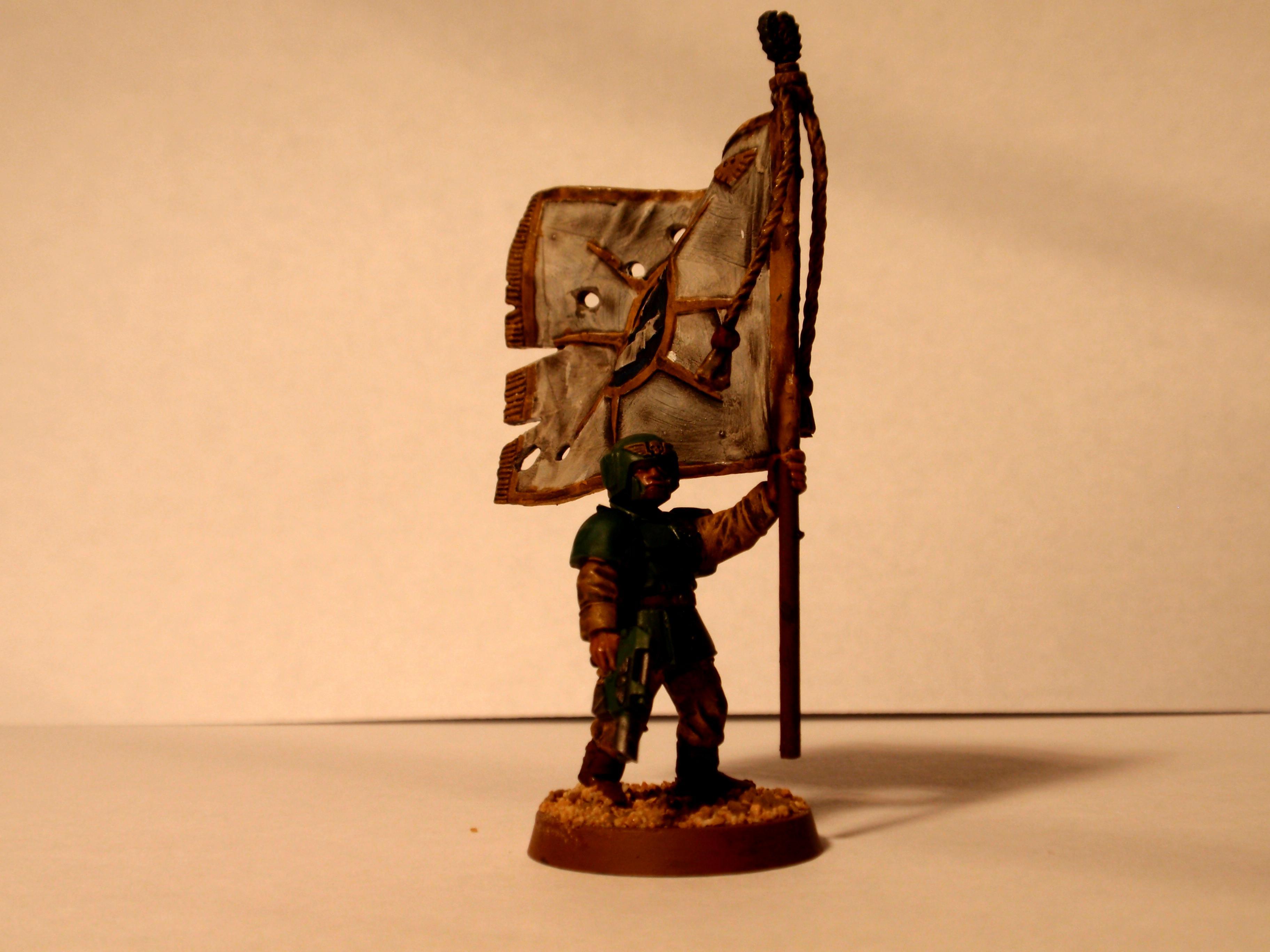 Banner, Cadians, Imperial Guard, Standard Bearer