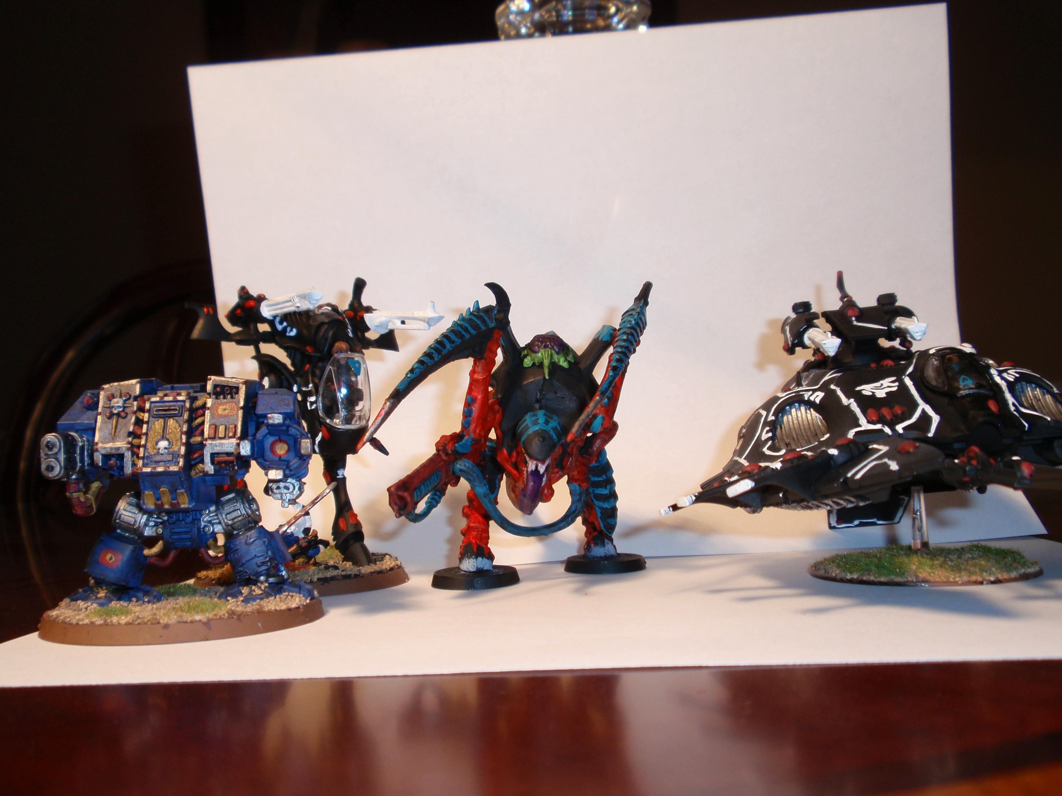 Carnifex, Dreadnought, War Walker, Wave Serpent