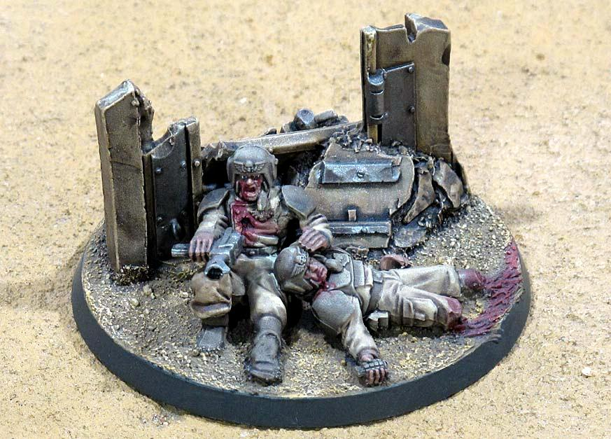 Casualties, Diorama, Imperial Guard, Last Stand, Warhammer 40,000