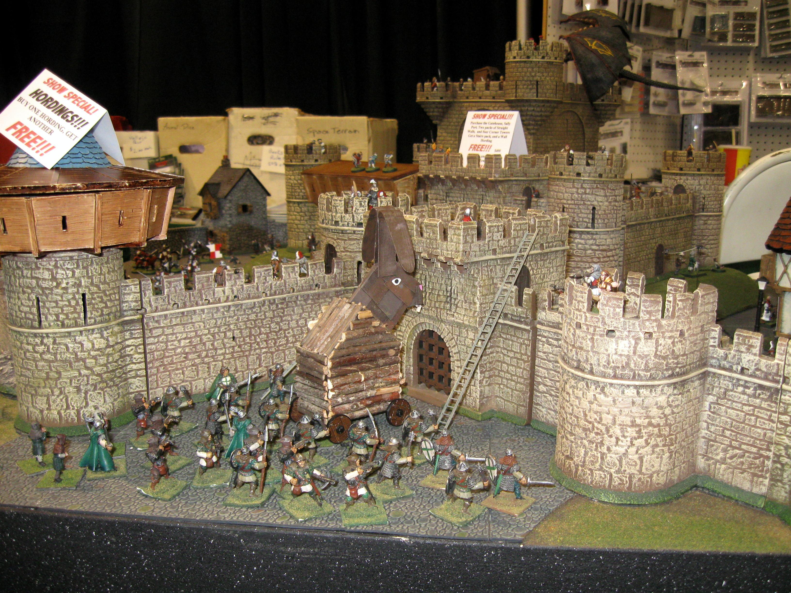 Castle, Siege, Trojan Rabbit, Walls, Warhammer Fantasy