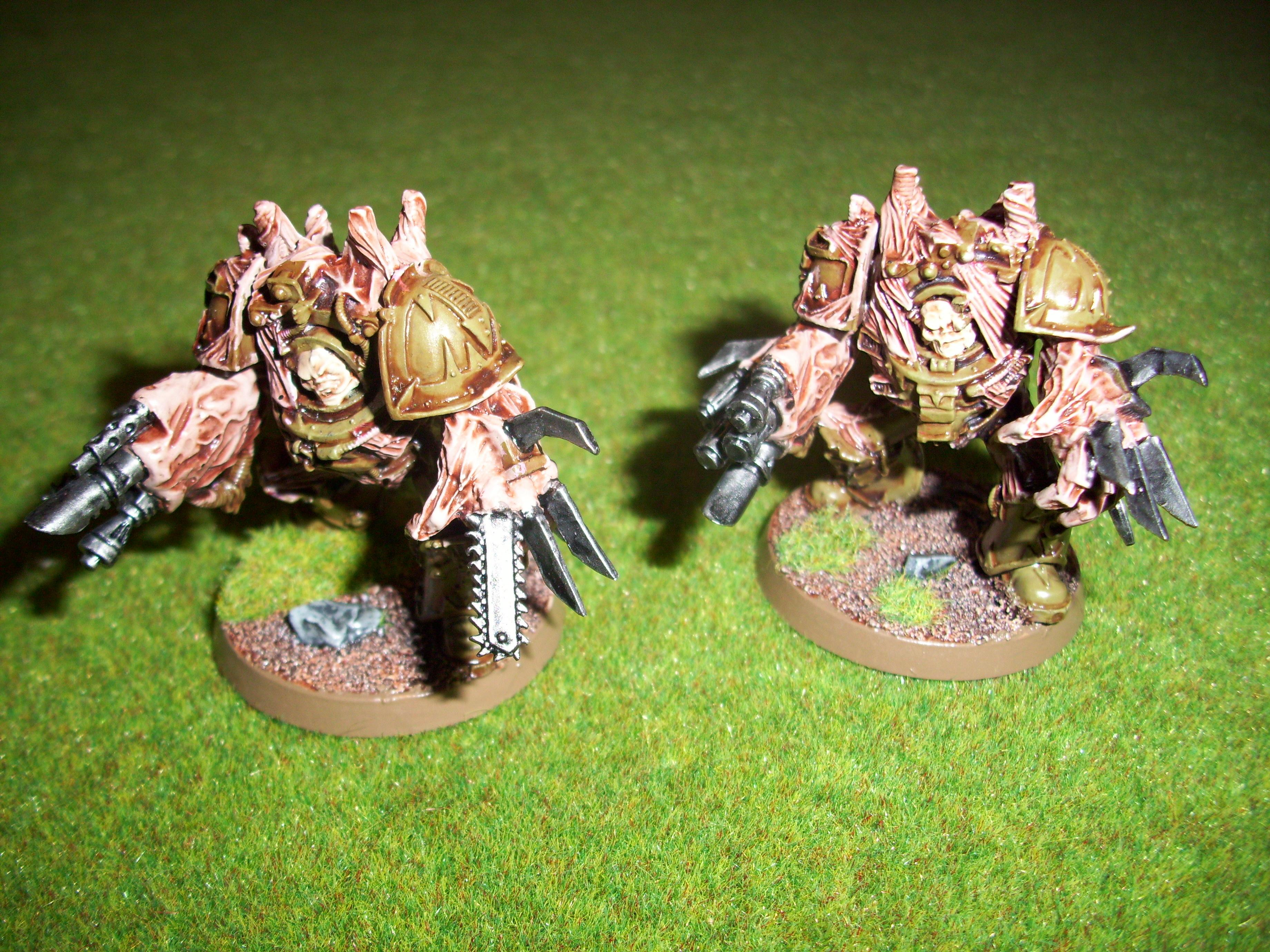 28mm, Chaos, Chaos Space Marines, Games Workshop, Nurgle, Obliterators, Science-fiction, Warhammer 40,000