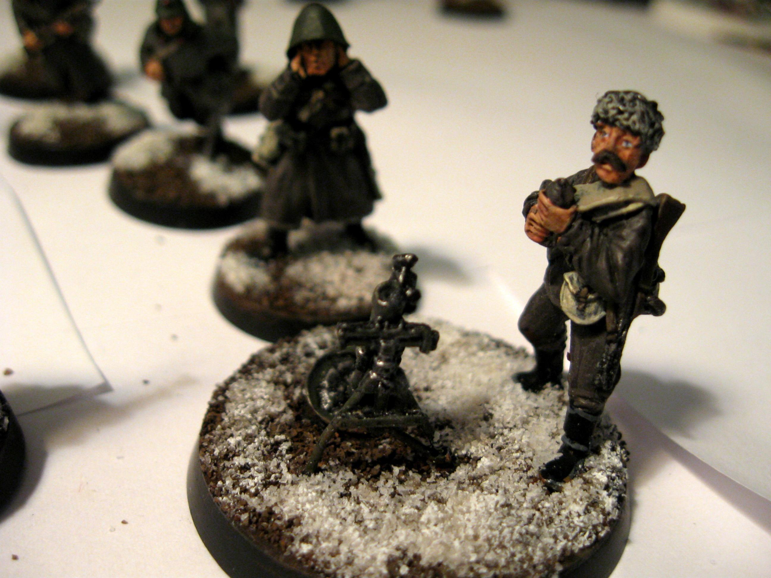 Mortar, Russians, Soviet, World War 2