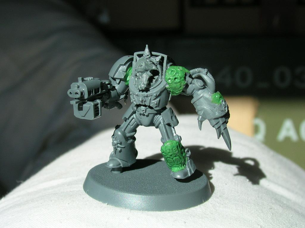 Inquisitor, Nurgle, Ordo Malleus, Possessed, Terminator Armor, Warhammer 40,000, Work In Progress