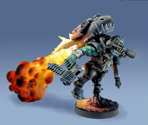 Awesome, Flames, Jump Pack, Orks, Source Lighting, Storm Boy, Warhammer 40,000