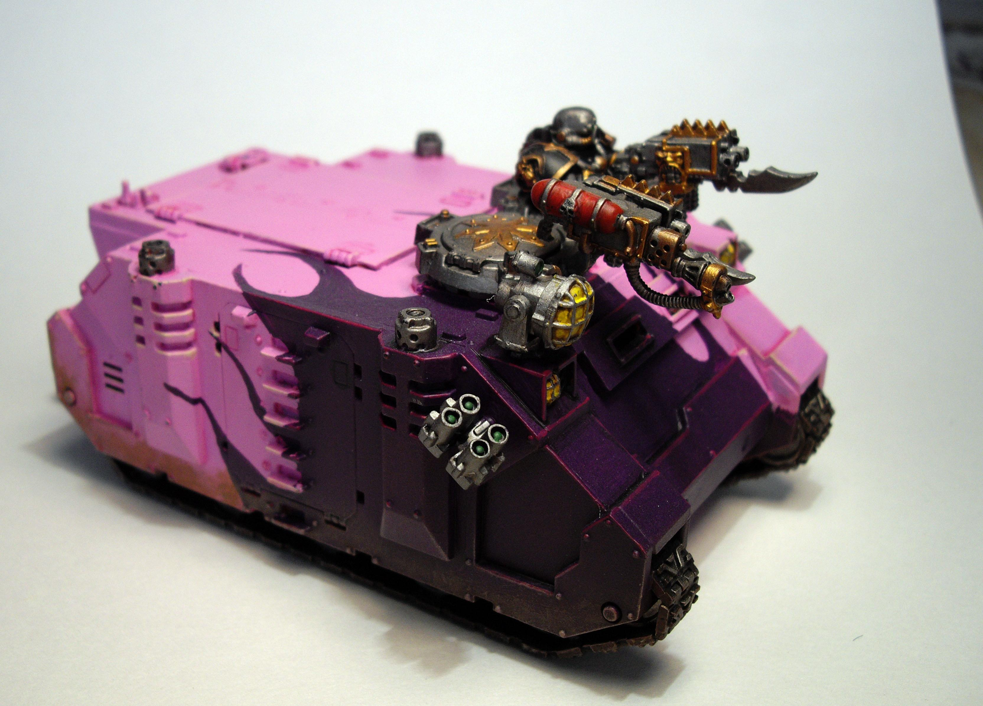 Chaos, Chaos Space Marines, Rhino, Slaanesh