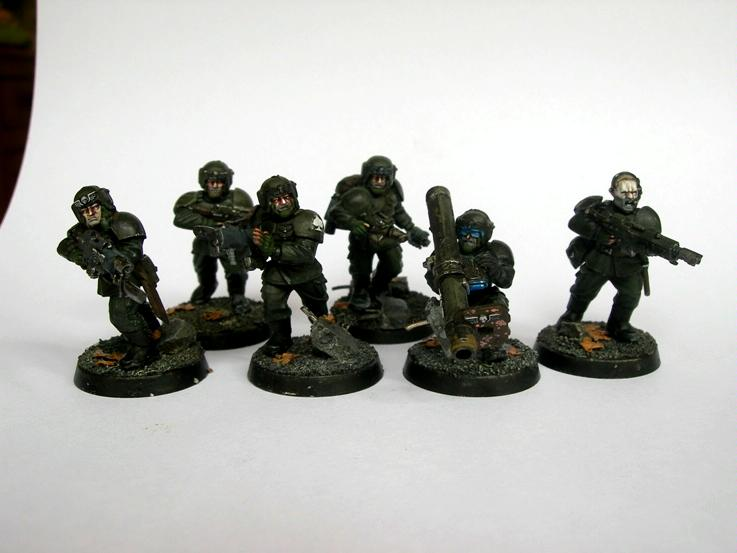 Cadians, Imperial Guard, Infantry Squad, Warhammer 40,000