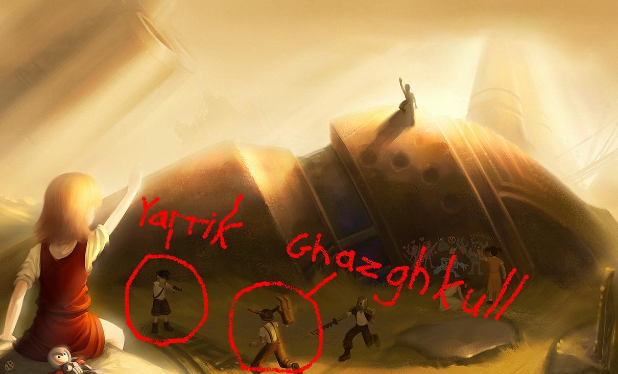 Artwork, Ghazghkull Thraka, Titan, Yarrick