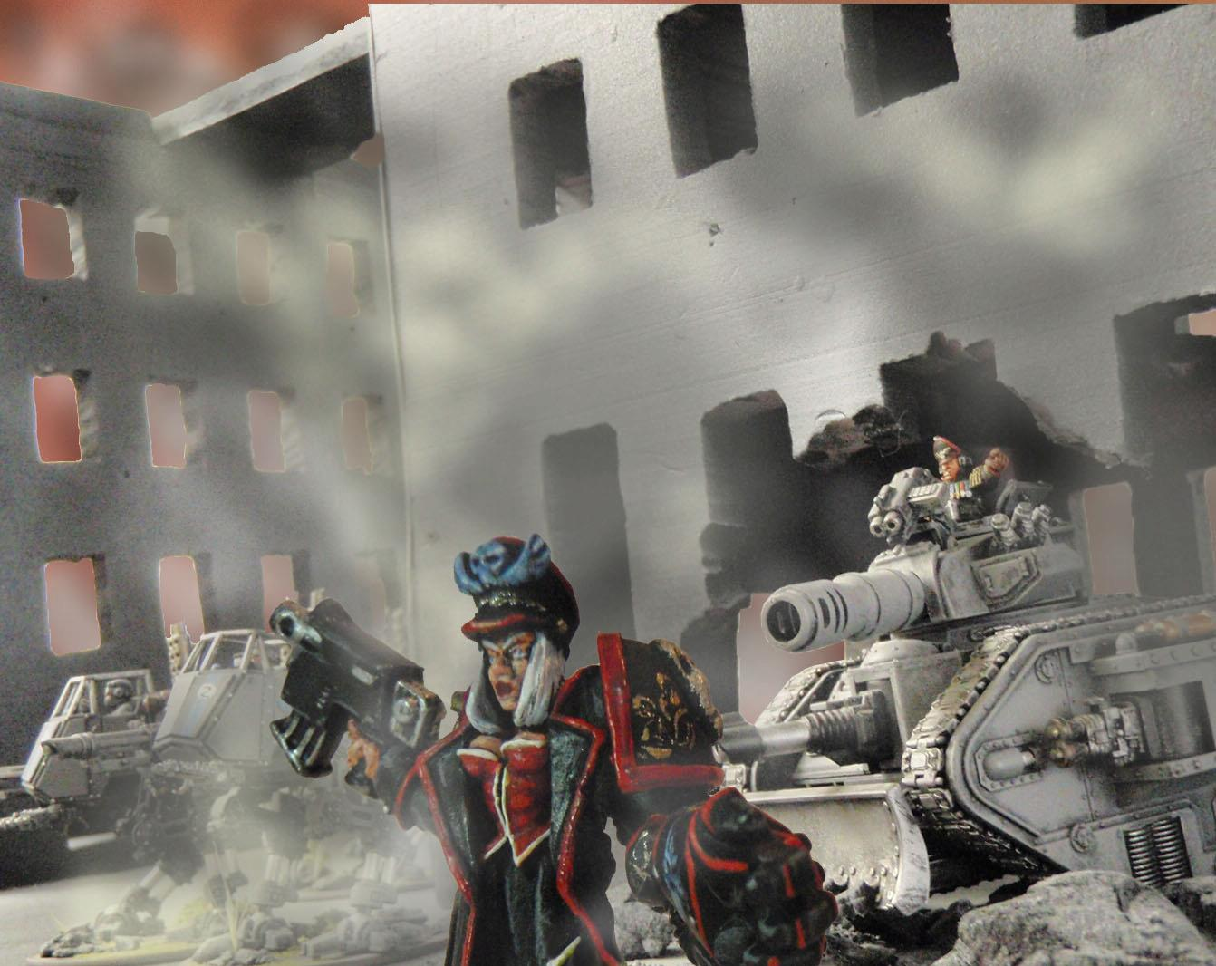 Artwork, Cities Of Death, Commissar, Imperial Guard, Photoshop