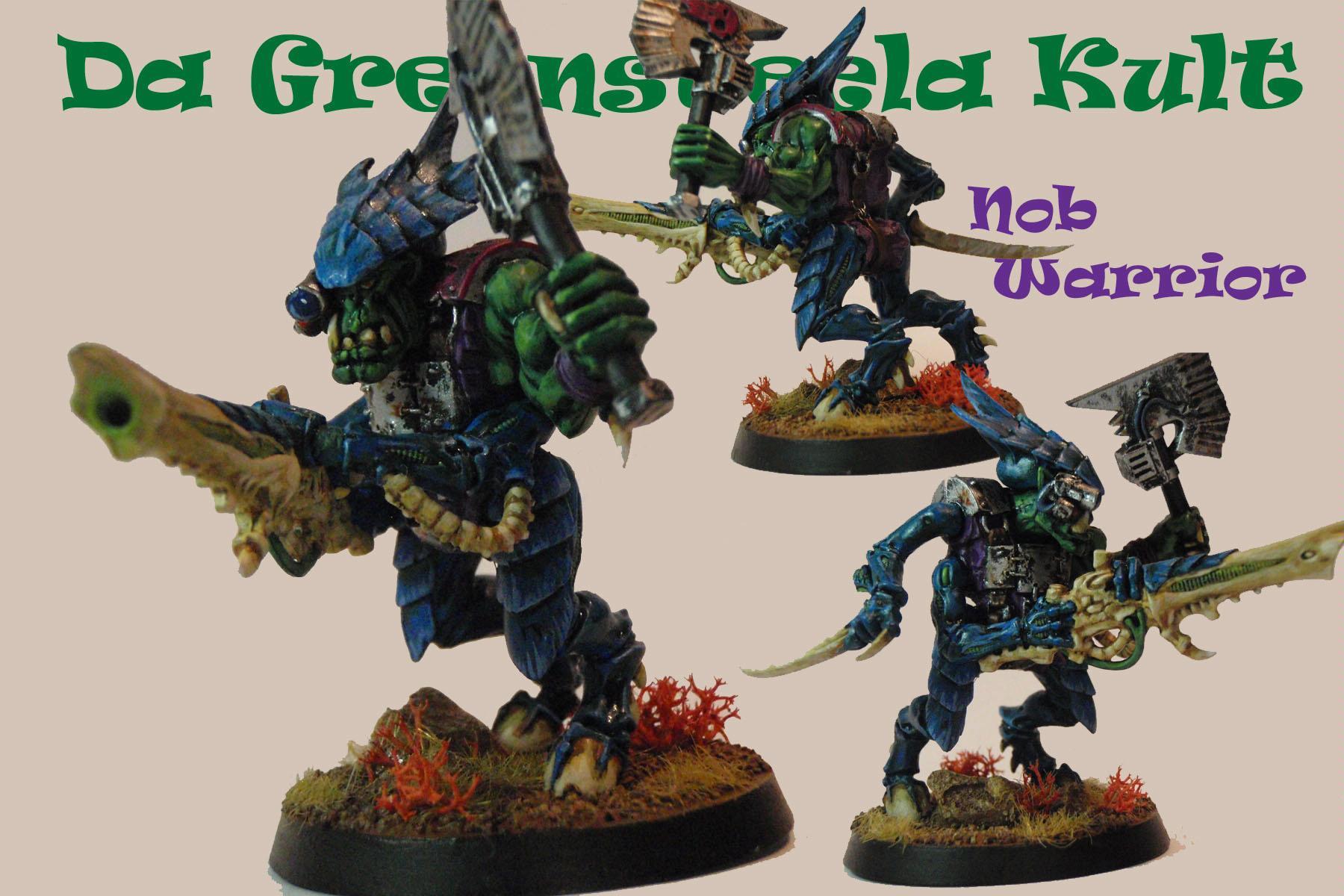 Genestealer Cult, Greensteela, Nob, Orks, Tyranid Warriors