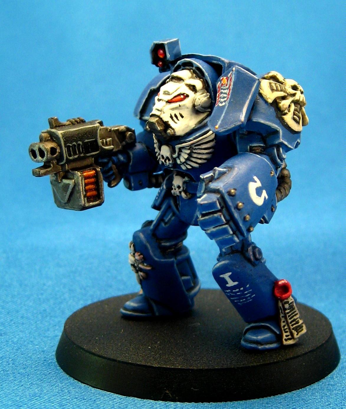 Space Marines, Terminator Armor, Ultramarines, Warhammer 40,000