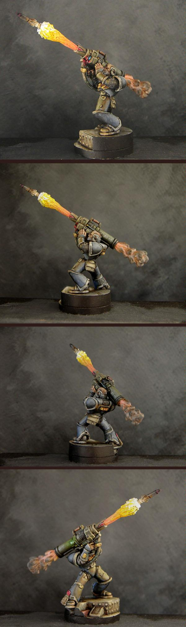 Armorcast, Awesome, Conversion, Custom Rocket Launcher, Object Source Lighting, Space Marines