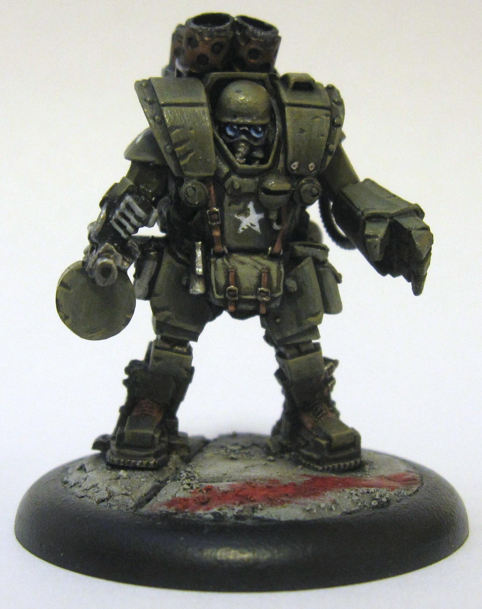 28mm, America, Grindhouse Games, Incursion, Infantry, Power Armor, Science-fiction, Wierd War Ii
