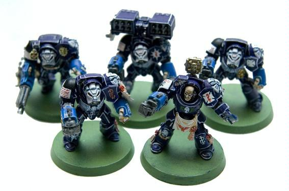 Space Marines, Squad, Terminator Armor, Warhammer 40,000