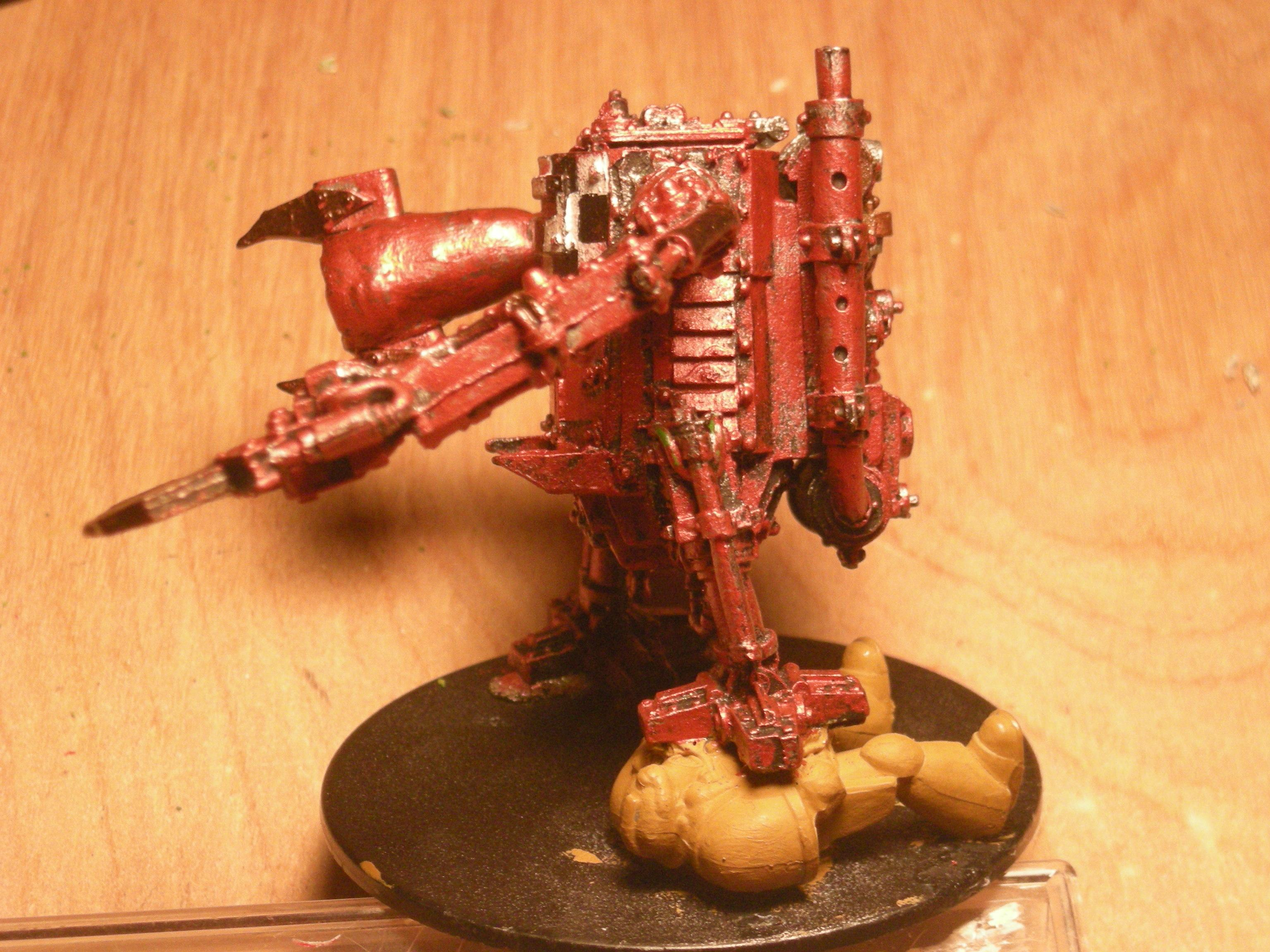 A side view of squished marine