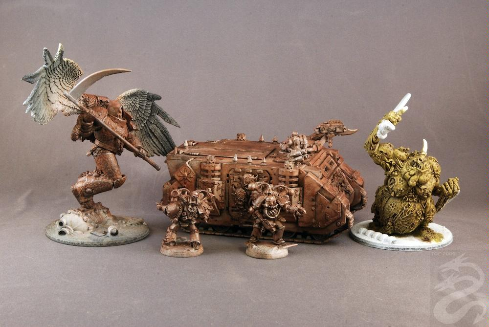 Chaos Space Marines, Great Unclean One, Nurgle, Rhino