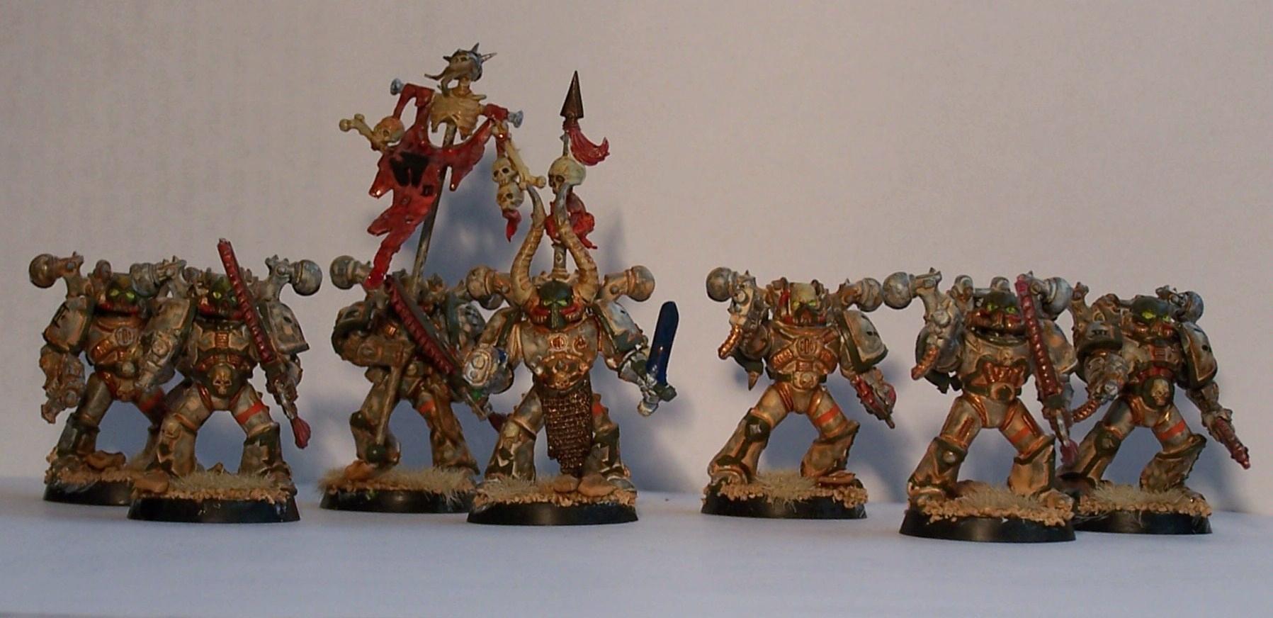Chaos, Chaos Space Marines, Nurgle, Silvermk2, Warhammer 40,000