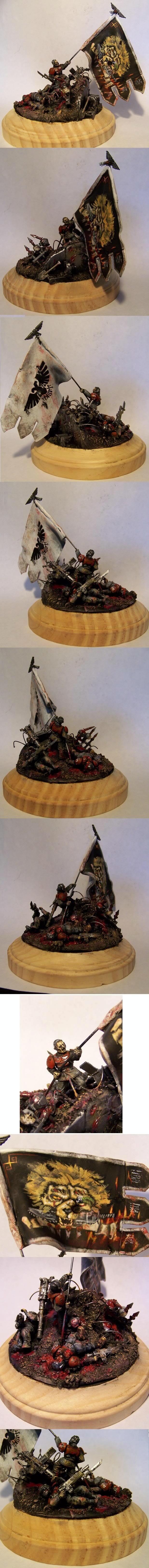 Diorama, Imperial Guard, Standard Bearer, Warhammer 40,000