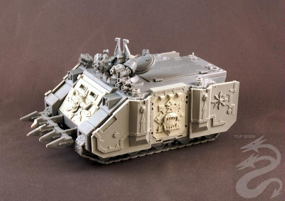 Chaos, Chaos Space Marines, Extra Armor, Forge World, Khorne, Rhino, Up Armored