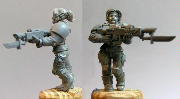 Cadians, Female, Imperial Guard
